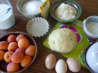 Ingrédients pour tartelettes aux abricots / I.G.