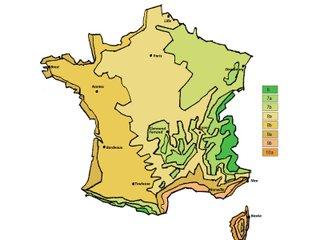 Zones de rusticité en France