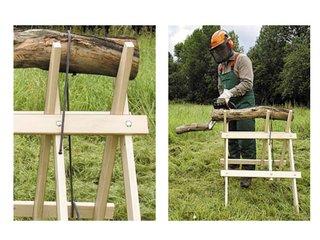 Fixation du bois à couper sur le chevalet