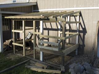 Construction d'un poulailler