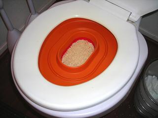 Modèle de bac à poser sur les toilettes