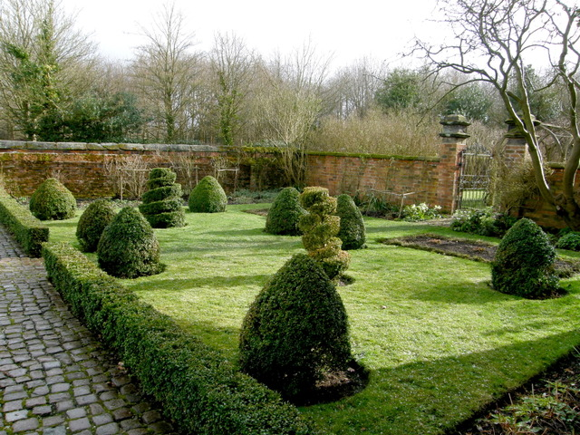 Jardin à la française en hiver