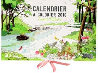 Calendrier à colorier 2016 Esprit Nature - Livre de (collectif)