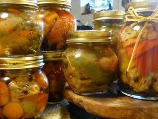 Conserves de légumes au vinaigre : pickles