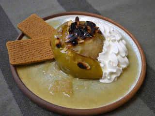 Pommes caramélisées au cidre