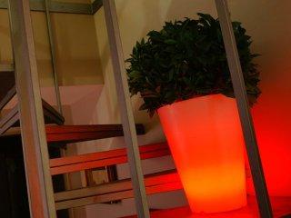 Vase conique lumineux multicolore à LED