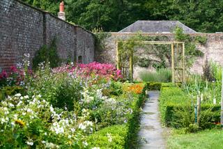 Jardin abrité derrière des murs