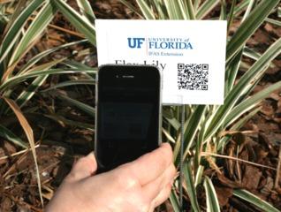 Exemple de QR code à flasher avec un smartphone / Gardening Solution