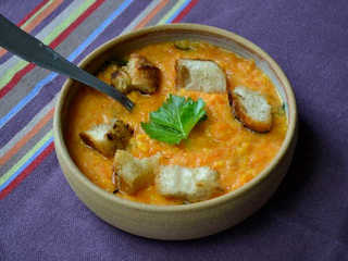 Soupe patates douces et potiron / I.G.