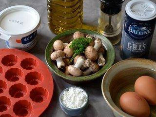 Ingrédients des bouchées aux champignons / I.G.