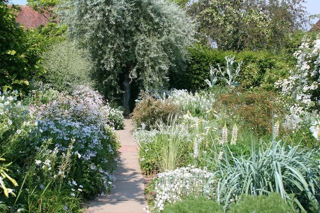 Bordures fleuries tout en blanc jardins anglais for Jardin anglais chalons en champagne