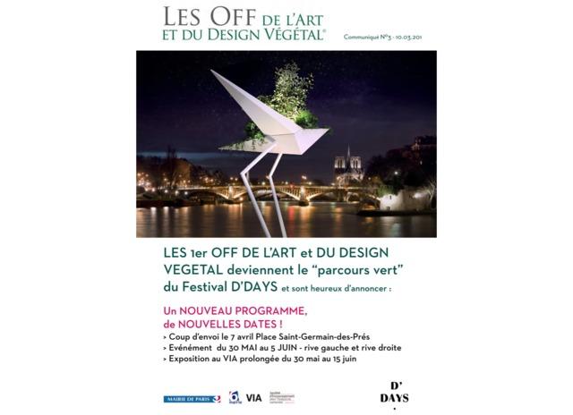 1ers Off de l'Art et du Design Végétal, 30 mai au 5 juin 2016, Paris
