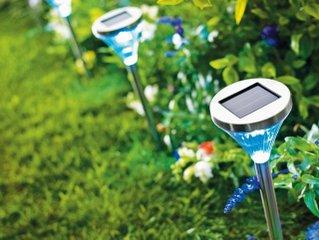Bornes solaires inox à LED