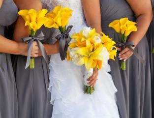 Bouquet de mariée moderne et lumineux