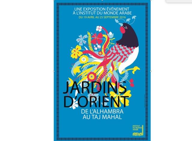 Exposition Jardins d'Orient, du 19/04 au 25/09 - IMA, Paris