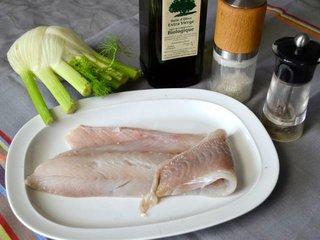 Ingrédients pour le filet de lieu au fenouil / I.G.