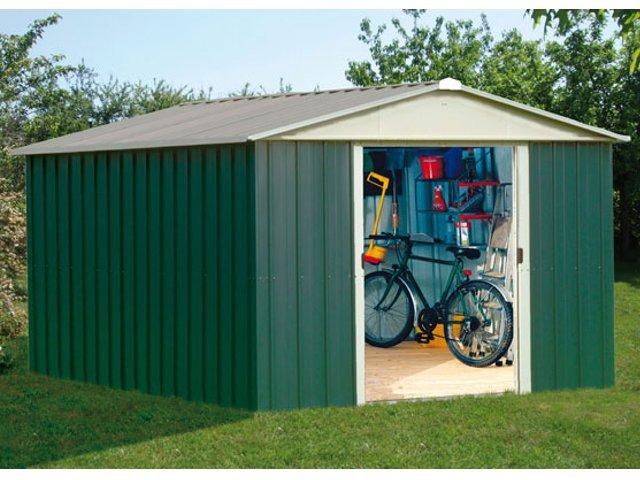 Abri de jardin m tal bois ou pvc d couvrez le choix trigano for Porte de chalet de jardin