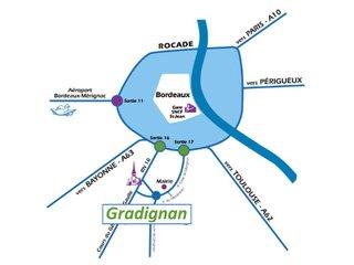 Accès commune de Gradignan