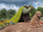 Mosaïculture et sculptures végétales