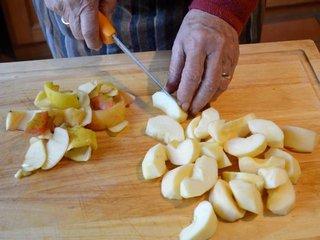 Préparation des pommes / I.G.
