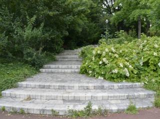 Escalier en béton décoré