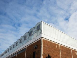 Serre sur un toit - ferme Lufa (Québec)