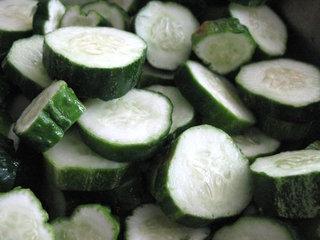 Concombre en rondelles