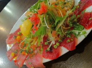Carpaccio : viande et légumes crus