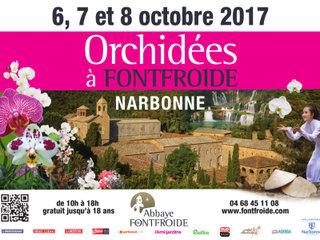 Orchidées à Fontfroide - affiche 2017