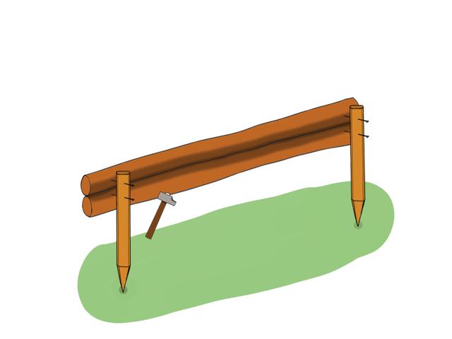 Installer une bordure en rondins, étape par étape