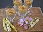 Verrines de crème de Haricots Tarbais, poires et pommes sautées