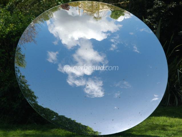 Miroir tourn vers le ciel jeux de miroirs au jardin - Miroir jardin ...