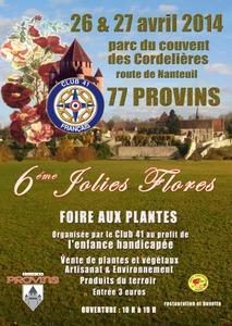 """Foire aux plantes """"les Jolies Flores"""" - Provins - Avril 2014"""