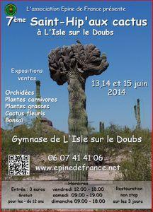 Saint-Hip'aux cactus 2014 : Splendeurs végétales - L'Isle sur le Doubs  - Juin 2014