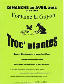 Troc plantes - Fontaine la Guyon - Avril 2014
