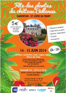 Fête des plantes du Chateau Bellenau - Saint Côme du Mont - Juin 2014