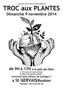 25e Troc aux plantes de St Gervais - Saint Gervais sur Roubion - Novembre 2014