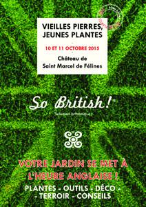 6ème édition Vieilles Pierres, Jeunes Plantes - Saint Marcel de Félines - Octobre 2015
