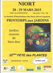 Printemps aux jardins - Niort - Mars 2015