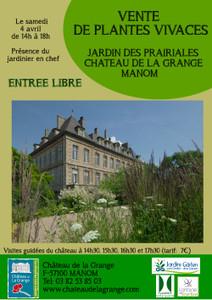Vente de plantes vivaces du jardin des Prairiales - Manom - Avril 2015