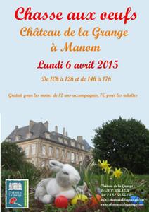 Chasse aux oeufs  au Château de La Grange - Manom - Avril 2015