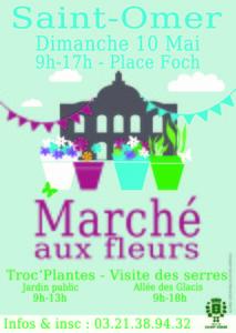 Marché aux fleurs - Saint-Omer - Mai 2015