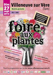 Foire aux plantes - Villeneuve sur Vère - Septembre 2015
