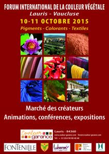 Forum International de la Couleur Végétale - Lauris - Octobre 2015