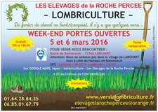 Week-end porte ouverte - Lombriculture - Larchant - Mars 2016