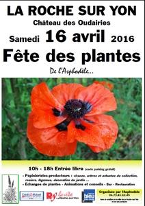 15ème édition de la Fête des plantes de l'Asphodèle - La Roche sur Yon - Avril 2016