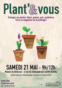 Plant'et vous : troc de plantes, graines et pots - Derval - Mai 2016