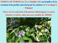 Portes Ouvertes au Jardin de Kernévez - Goudelin   - Juillet 2016