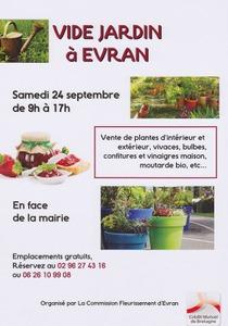 Vide jardin evran septembre 2016 for Vide jardin finistere 2016