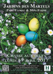 Grande chasse aux oeufs de Pâques au jardin des Martels - Giroussens - Avril 2017
